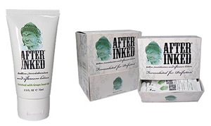 After Inked is sold as a 90ml Tube or 7ml Pillow Pack