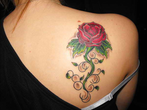 Rose tattoo design and what it means after inked tattoo for Rose petal tattoo