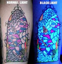 Fluorescent tattoos