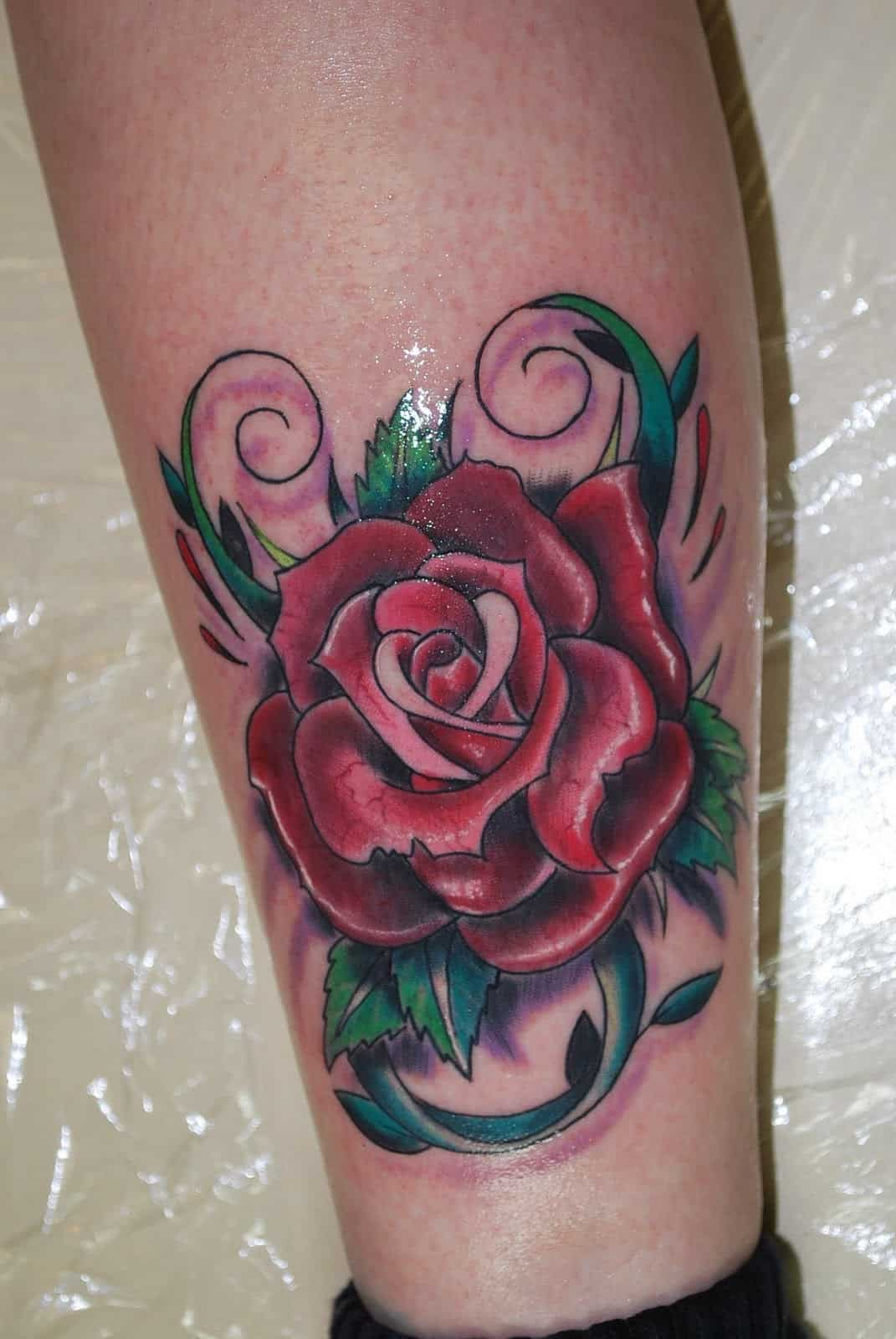among the floral tattoos rose tattoos are probably the most popular ...