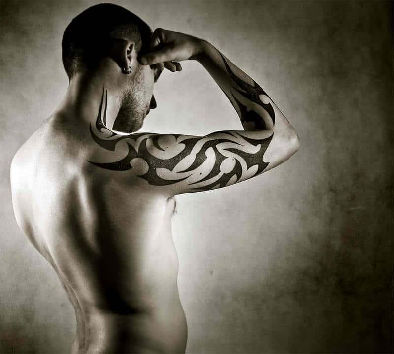 Upper Arm Tribal Tattoo Designs